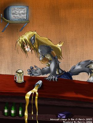 animated naked girls turning into werewolf